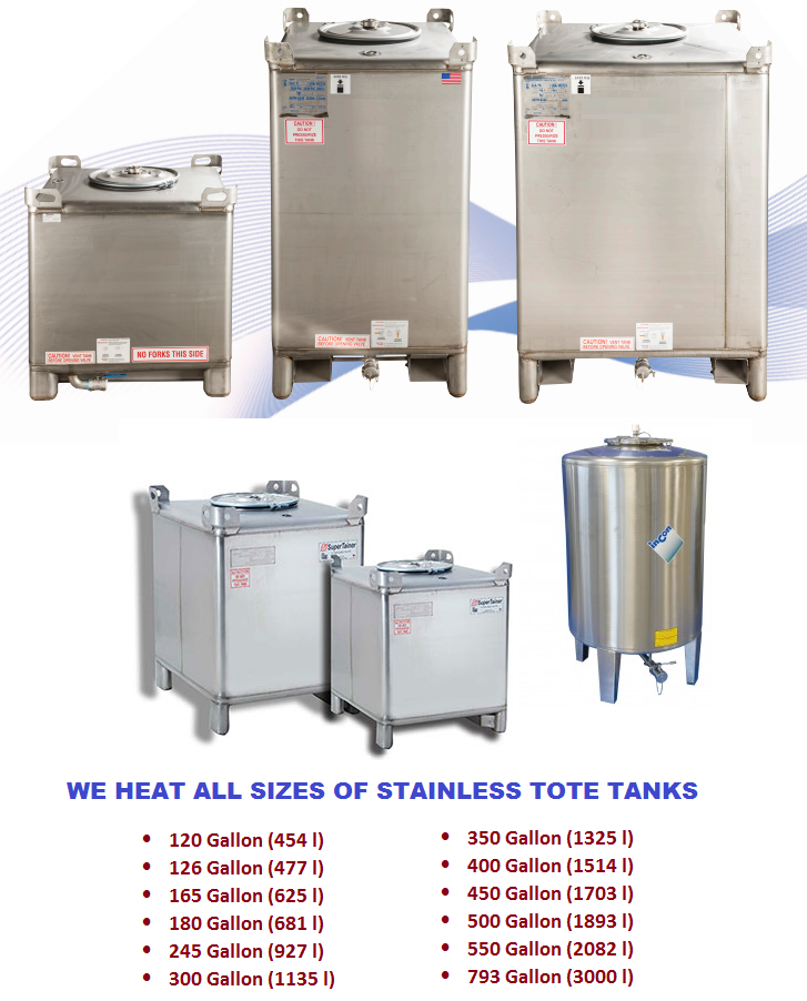 stainless tote heaters